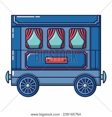 Retro Wagon Icon. Cartoon Of Retro Wagon Vector Icon For Web Design Isolated On White Background