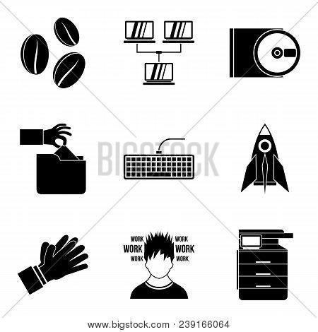 Calligrapher Artist Icons Set. Simple Set Of 9 Calligrapher Artist Vector Icons For Web Isolated On