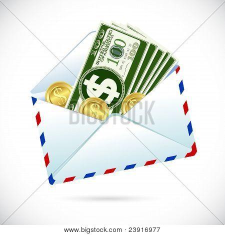 Dólares en sobres