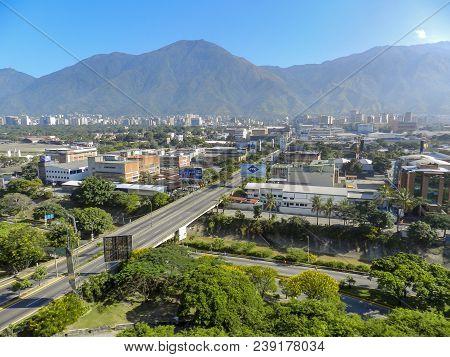 Caracas, Venezuela - Sep 09th 2012: Spectacular View Of The City Of Caracas, Capital Of The Bolivari