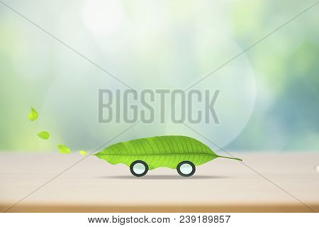 Vehicles That Are Environmentally Friendly.eco Car Concept.