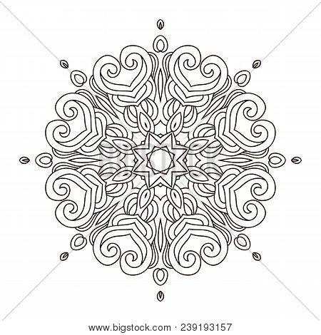 Mandala Coloring Bookoutline Mandalas Inspired Arabian And Indian Tibetan Ornamentadult