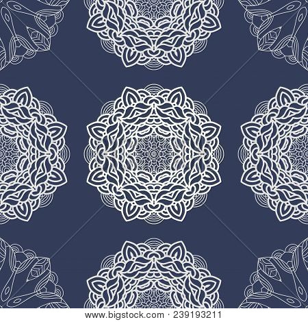 Vector Seamless Pattern Mandala Print.gorgeous Pattern For Silk And Satin Fabric .bright And Stylish