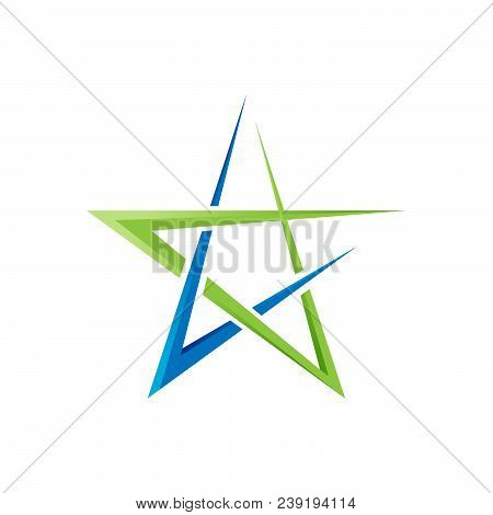 Abstract Star Logo Vector Design. Star Astrology Symbol. Star Icon Logotype. Sport Star Logo. Astron