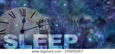 Time To Get Treatment For Your Sleep Problem  - Dark Night Sky Background With A Semi Transparent Ro