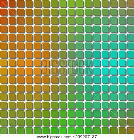Green Orange Blue Gradient Cubic Pixelize Checkered Texture Design