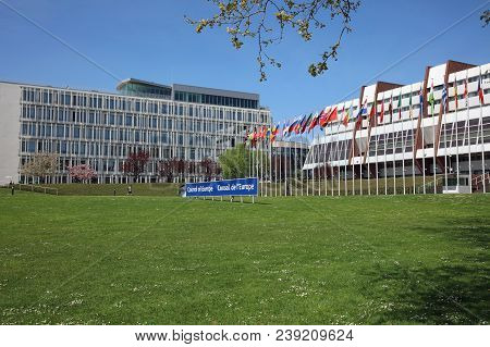 Strasbourg, France - April 18, 2018: : Building Of Palace Of Europe In Strasbourg City. The Building