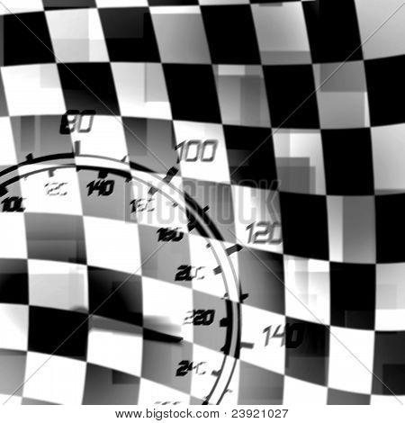 Racing Flag Speedometer
