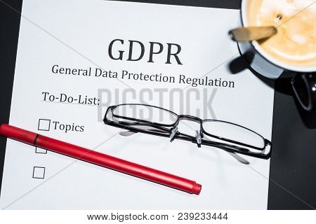 To Do List For Gdpr - General Data Protection Regulation