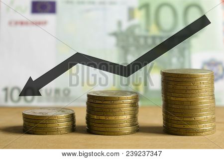 Euro Behind The Plan Is Profit And Growth. Coins Increase Funds To Generate Profits For Financing An