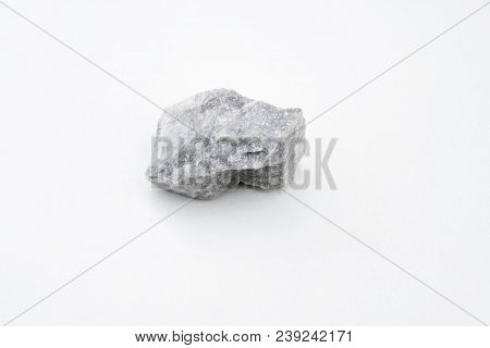 Magnesite Mineral Isolated Over White