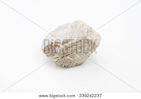 Feldspar Mineral Isolated Over White