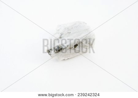 Wollastonite Mineral Isolated Over White