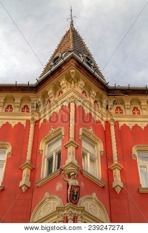 Subotica / Vojvodina, Serbia - April 28, 2018: Architecture Detail In Art Nouveau Style At One Build