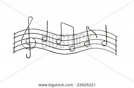 Grunge Notes On White
