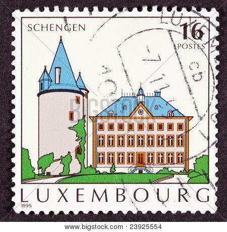 Schengen Agreement Village Commune Tower House Cross