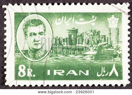 Stamp Shah Palace Persian Emperor Darius Persepolis