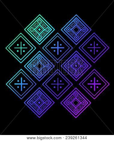 Hand Drawn Vector Illustration Or Drawing Of An Indigenous Ethnic Pattern Design