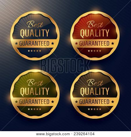Best Quality Guaranteed Premium Gold Label And Badges Vector Design