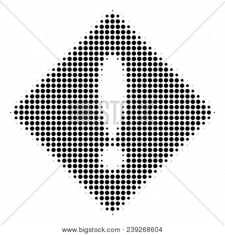 Dot Black Error Icon. Vector Halftone Composition Of Error Icon Created From Spheric Points.