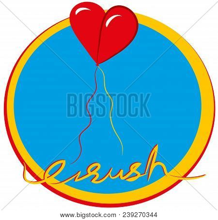Couple In Love Couple In Love. Illustration Symbolized With Balloons. Illustration Of Heart With Bal