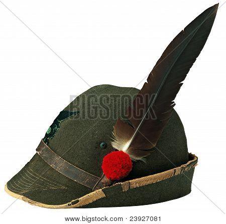 Italian alpine hat