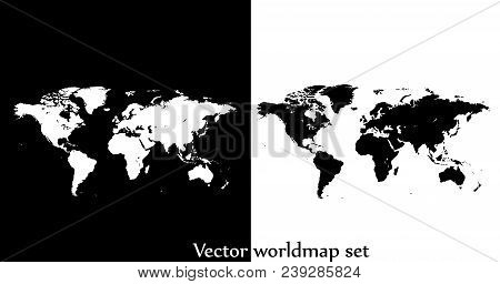 Flat World Map Vector.Vector World Map Vector Photo Free Trial Bigstock