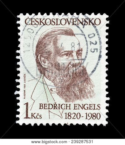 Czechoslovakia - Circa 1980 : Cancelled Postage Stamp Printed By Soviet Union, That Shows Portrait O