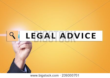 Legal Advice Ext On Virtual Screen. Consulting. Attorney At Law. Lawyer, Business And Finance Concep