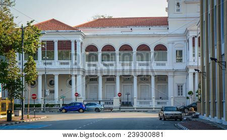 George Town, Malaysia - Mar 10, 2016. Government Building In George Town, Malaysia. Established In 1