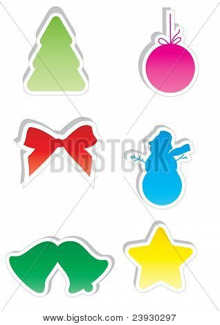 Vector Christmas Stickers