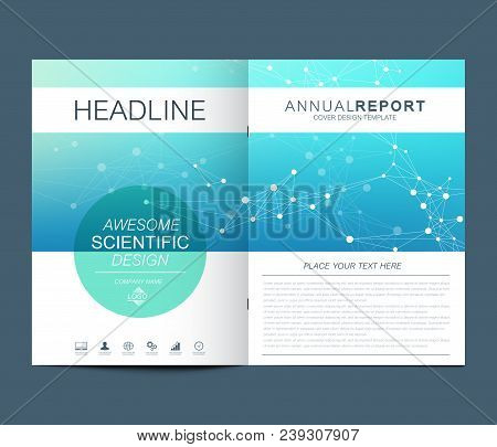Modern Vector Template For Brochure Leaflet Flyer Advert, Cover, Catalog, Magazine Or Annual Report.