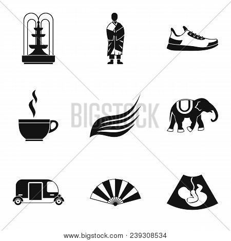 Composure Icons Set. Simple Set Of 9 Composure Vector Icons For Web Isolated On White Background