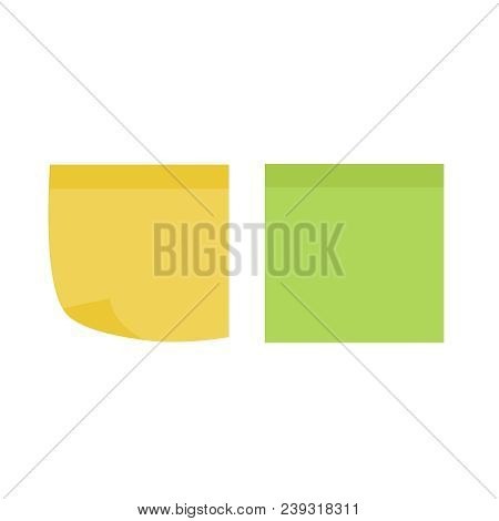 Multicolor Notes Post. Colored Sticky Note Set. Post Note Paper Vector