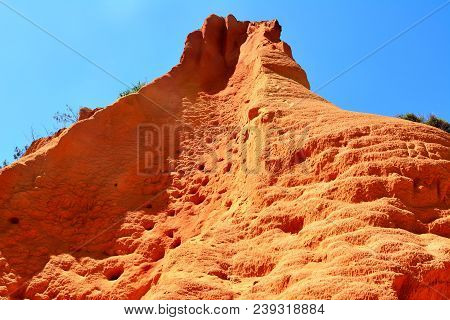 Sandy Pinnacle Formation Of Red Canyon In Great Sandy National Park In Queensland, Australia.
