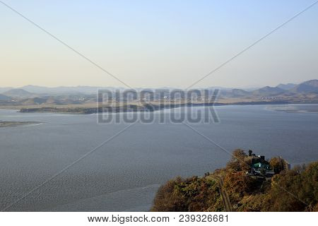 North Korea And Han River, Viewed From South Korea