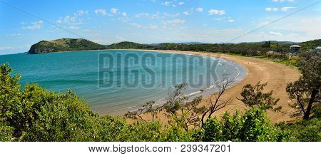 View Over Kemp Beach Toward Bluff Point In Capricorn Coast National Park In Queensland, Australia.