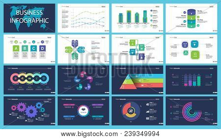 Business Presentation Slide Template Design Set Can Be Used For Workflow Layout, Annual Report, Web