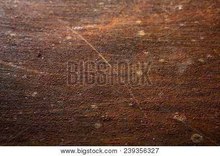 Old rusty iron background and texture. Corrosion of metal, copy space, closeup poster