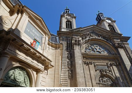 Lyon, France, May 6, 2018 : Inhabitants Of Lyon Discover New Hôtel-dieu Converted After 3 Years Of W