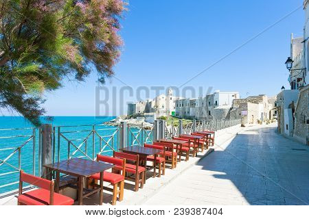 Vieste, Apulia, Italy - Out For Dinner At The Promenade Of Vieste