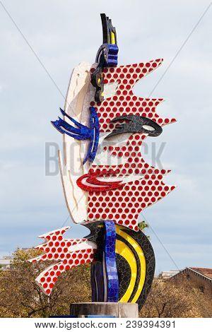Barcelona, Spain. March 22, 2015: El Cap De Barcelona (1991-1992) Is A Surrealist Sculpture Created