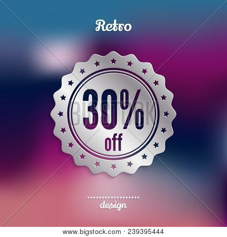 Discount Silver Badge. Thirty Percent Offer. Product Promotion