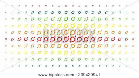 Node Link Icon Spectrum Halftone Pattern. Vector Node Link Shapes Are Arranged Into Halftone Matrix