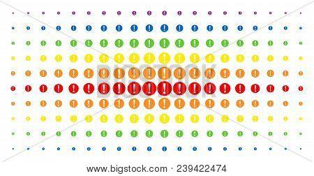 Problem Icon Spectrum Halftone Pattern. Vector Problem Pictograms Are Organized Into Halftone Matrix