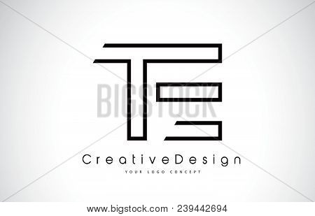 Te T E Letter Logo Design In Black Colors. Creative Modern Letters Vector Icon Logo Illustration.