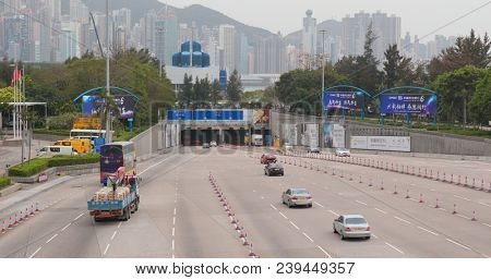 Western Harbour Tunnel, Hong Kong, 07 April 2018:- Western Harbor Tunnel in Hong Kong