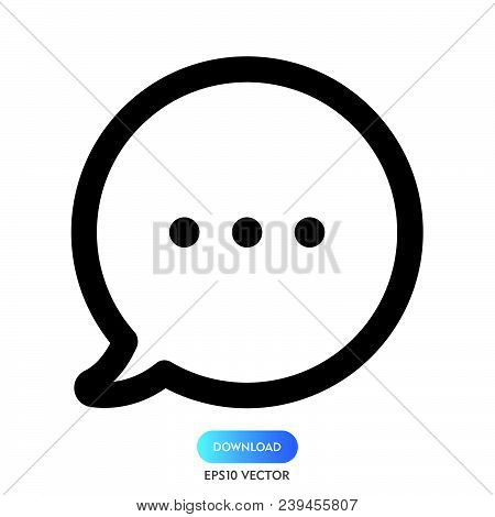 Chat Bubble Icon Isolated On White Background. Chat Bubble Icon Modern Symbol For Graphic And Web De