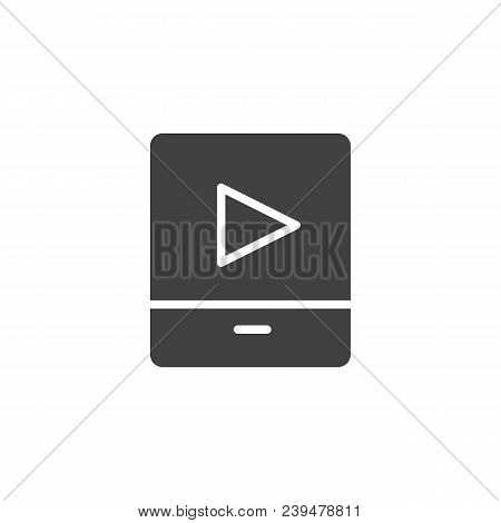 Video Media Player Vector Icon. Filled Flat Sign For Mobile Concept And Web Design. Player Simple So
