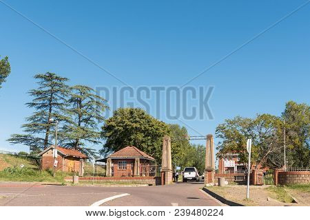 Estcourt, South Africa - March 21, 2018: Entrance Of The Estcourt High School, Founded In 1924 In Es